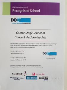 CDET certificate